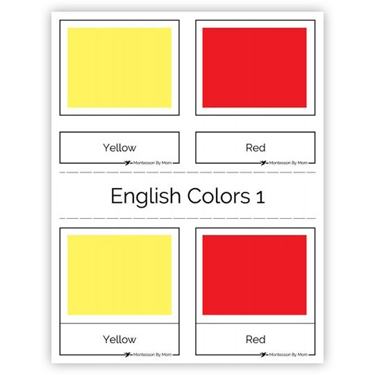 graphic relating to Printable Colors identify Printable 3 Aspect Playing cards - Shades, English