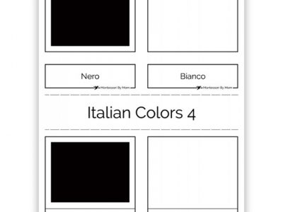 3 Part Color Cards Italian